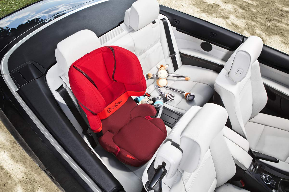 CYBEX Silver Solution X-Fix Child's Car Seat, For Cars with and without ISOFIX, Group 2/3 (15-36 kg), From approx. 3 to approx. 12 years, Rumba Red Cybex Sturdy and high-quality child car seat for long-term use - For children aged approx. 3 to approx. 12 years (15-36 kg), Suitable for cars with and without ISOFIX Maximum safety - 3-way adjustable reclining headrest, Built-in side impact protection (L.S.P. System) 11-way adjustable, comfortable headrest, Adjustable backrest, Comfortable seat cushion 8