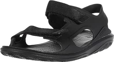 Crocs Men's Swiftwater Molded Expedition Open Toe Sandals, Black Black Black 060, 9 UK