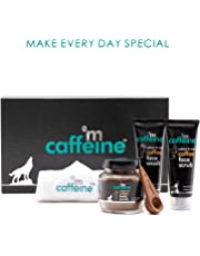 mCaffeine Coffee Moment Skin Care Gift Kit| Pure Arabica Coffee | Tan Removal | Oily/Normal Skin | Paraben & SLS Free