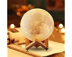 NSL lampe de lune lune lumière lune veilleuse lampe de lune personnalisée pour chambre lampe de lune imprimée 3D cadeau d'ann