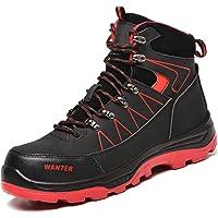 JUDBF Chaussure de Sécurité Montante Homme Femme Hiver Chaudes Chaussures de Travail avec Embout de Protection en Acier…