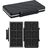 JJC Speicherkarten Etui Tasche Aufbewahrung für 24 Micro SD SDXC SDHC + 12 SD SDXC SDHC, Wasserdicht Speicherkartenetui…