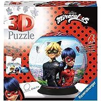 Ravensburger- Puzzle 3D Rond 72 pièces-Miraculous, 4005556111671