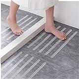 Ecooe 16 x anti-slip strips voor trappen, douches en badkuipen zelfklevende antislipbescherming 45 cm lang 2 cm breed transpa