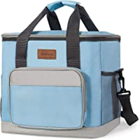 HOMESPON Sac Isotherme Cooler Bag 23,5L Sac de Pique-Nique Thermique Étanche avec Bandoulière Réglable pour École…
