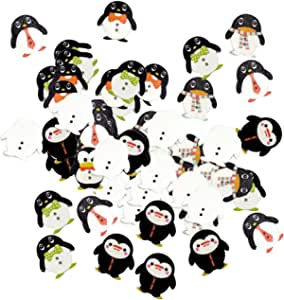 Sharplace 100 St/ück Pinguin Holzkn/öpfe Dekokn/öpfe Kn/öpfe Kinderkn/öpfe Knopfmischung Knopfset f/ür Kinder