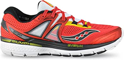 Saucony, PowerGrid TRIUMPH ISO 3, Scarpe running uomo, White/Red/Yellow