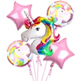 Party Propz Big Size Magical Unicorn Balloon Bouquet 5pcs /Birthday Decoration for Girls / Unicorn Balloon Set for kids