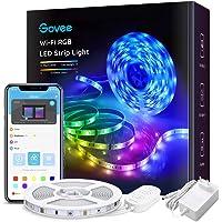 Govee WiFi LED Strip 5m, Smart RGB LED Streifen, App-steuerung, Farbwechsel, Musik Sync, funktioniert mit Alexa und…