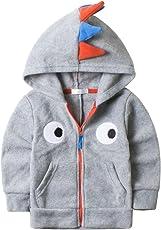 G-Kids Baby Fleecejacke KapuzenjackeÜbergangsjacke Kleinkinder Dinosaurier Frühling Herbst Jacke Reißverschluss Sweatshirts
