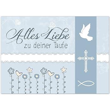 Glückwunschkarte Taufe Mit Umschlaggrüne Wiese Modern