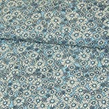 Stoffe Werning Viskosestoff Gänseblümchen hellblau Blumen