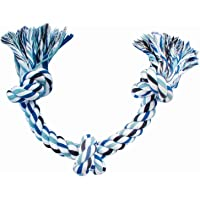 Wowdog Dog's Cotton Rope Chew Toy for Medium & Lagre Breeds | 3 Thick Chewable Knots-24 cm (Colour May Vary)