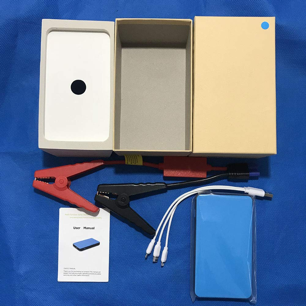 Asdomo 82800 mAh arrancador de Coche con Cargador r/ápido 12 V Auto bater/ía Booster port/átil con Pantalla LCD y Cable Tipo C