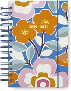 Kate Spade New York Medium 2020-2021 Planner Weekly & Monthly, 17 Month Hardcover Personal Diary Dated Aug 2020 - Dec 2021 with Stickers, Pocket, Tab Dividers, Notes/Holiday Pages, Pop Floral
