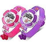 ساعة أطفال فتيات على شكل وردة ساعة رقمية كرتون 1144
