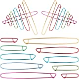 Dadabig 20pcs Clips marcador Alfileres de seguridad agujas Ganchillo Agujas Ganchillos Crochet Aluminio Agujas para Tejer Man