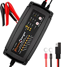 Automatisches Batterieladegerät, Batterie Ladegerät / Desulfator / Wartungsgerät 2/4/8 Ampere Batterie Lade- und Testgerät. für 12V Motorrad, PKW und LKW, Intelligentes Auto Batterieladegerät on Dr.Auto