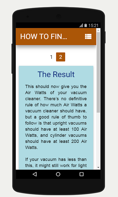 Air Watts of Your Vacuum Cleaner