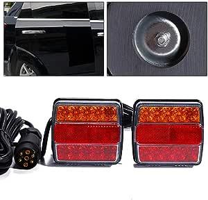 Universal Led Rückleuchten 12v 7 Polig Anhänger Beleuchtung Links Rechts Rücklicht Für Lkw Wohnwagen Van Oder Motorrad 2 Stück Baumarkt