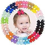Tiny Hair Clips Grosgrain Ribbon Hair Bow Coccodrillo per neonati Toddlers 40pz