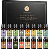 Lagunamoon Olio Essenziale, Top 16 Set di Olio Essenziale Aromaterapia di Lavanda, Eucalipto, Limone, Rosmarino, Tea Tree, Me