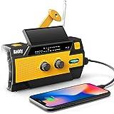 Raddy SW3 zwengelradio, draagbare zonne-radio, noodgevallen, AM FM Dynoma radio met USB-telefoon-oplaadfunctie, led-zaklamp e