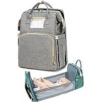 Multifunktionales Babyreisebett 2-In-1 Multifunktionale Reise Mama Taschen tragbare Babybett Reise Stubenwagen Grau