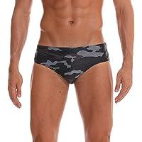 Adorel Men Swimming Briefs Padded Swimwear Pattern Low Rise