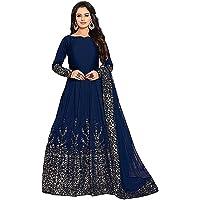 Varudi Fashion Women's Anarkali Gown Knee Length Dress