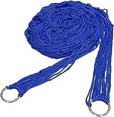 Wingbind Netz-Hängematte für Draußen u. Garten, Maschen-Seil-Hängematte-Schlafenetz-Bett für kampierendes Wandern Nylon Tragbare Last bis zu 100 KG