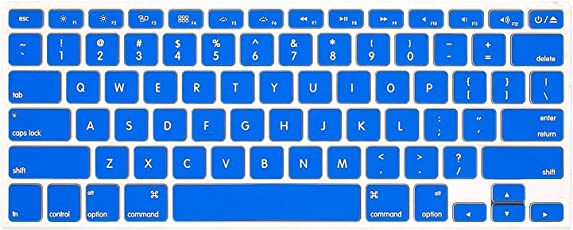 """Best.Dealz Blue Transparent Silicone Keyboard Protector Cover Skin for Apple MacBook (Air 11"""")"""
