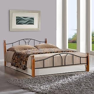 FurnitureKraft Toronto Queen Size Metal Bed  Glossy Finish, Multicolour