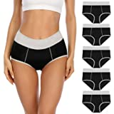 YaShaer Ladies High Waist Knickers Cotton Underwear Soft Stretch Panties Underpants Full Coverage Briefs Lovely Panties for W