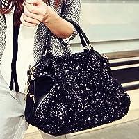LnLyin Damen Vintage Clutches Geldbörsen Abendtaschen Glitzer Pailletten Handtasche Schultertasche für Hochzeit Braut…