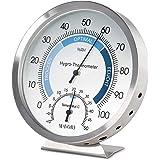 MAVORI® Thermometer Hygrometer innen analog - Luftfeuchtigkeitsmessgerät und Zimmerthermometer aus hochwertigem…