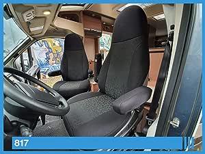 Maß Sitzbezüge Kompatibel Mit Wohnmobil Fahrer Beifahrer Farbnummer 817 Schwarz Abc Auto