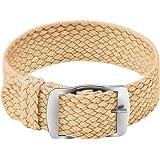 Ullchro Nylon Bracelet Montre Remplacer Haute Qualité Perlon Tissé Bracelet Montre NATO Homme Femme - 14, 16, 18, 20, 22mm Mo
