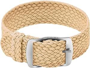 Ullchro Nylon Bracelet Montre Remplacer Haute Qualité Perlon Tissé Bracelet Montre NATO Homme Femme - 14, 16, 18, 20, 22mm Montre Bracelet avec Acier Inoxydable Boucle