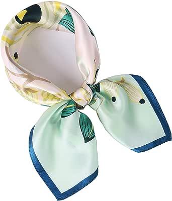 laprée - Foulard Seta Donna Foulard Piccolo Quadrato di Seta Sciarpa Foulard Chic 52 * 52CM