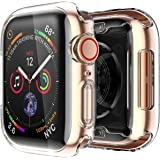 wafi Apple Watch 38mm Clear Case Screen Protector Protective Case High Definition Clear Ultra-Thin Cover