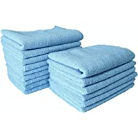 SOFTSPUN Microfiber Wipes 20x30 Cms, 15 Piece Towel Set, 340 GSM (Sky Blue) Multi-Purpose Super Soft Absorbent Cleaning Towels for Home, Kitchen, Car, Cleans & Polishes Everything in Your Home.