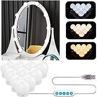 Aourow Lumière de Miroir,Lampe Miroir Maquillage de Style Hollywood Avec Interrupteur et 10 Ampoules à Intensité…