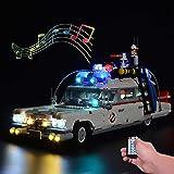 ZJLA Afstandsbediening lichtset met geluid voor Lego Ghostbusters ecto-1 10274, verlichting voor Lego 10274 ecto 1 (niet inbe