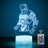 Omega 3D Night Light, WHATOOK Illusion Light Gifts for Boys Girls, 16 Colors Changing Remote Control Decoration 3D Lamps