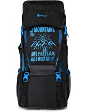 Impulse Waterproof Travelling Trekking Hiking Camping Bag Backpack Series 55 litres Blue Mt Calling Rucksack