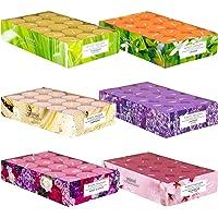 Pajoma Lot de 180 bougies chauffe-plat parfumées au printemps et en été dans un étui en polycarbonate, 6 x 30 bougies…