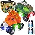 joylink Dinosaurio Coche, 2 Pcs Juguetes de Dinosaurios Coche con Luces LED y Sonido Realista Dinosaurio Juguete Coche Regalo