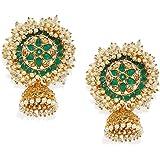 Zaveri Pearls Jhumki Earrings for Women (Golden) (ZPFK7925)