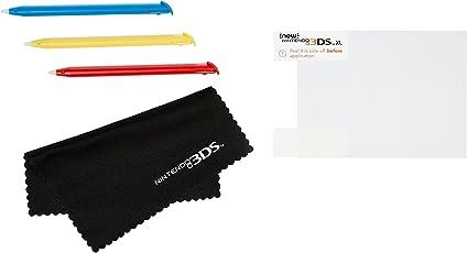 AmazonBasics - Displayschutzfolie und Stylus-Eingabestifte, Set für die New Nintendo 3DS XL (offizielles Lizenzprodukt)